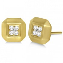 Diamond Square Stud Earrings in 14k Yellow Gold (0.40ct)