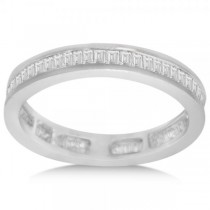 Diamond Eternity Baguette Wedding Band in 14k White Gold (1.20ct)
