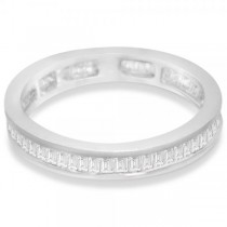 Diamond Eternity Baguette Wedding Band in 14k White Gold (1.20ct)