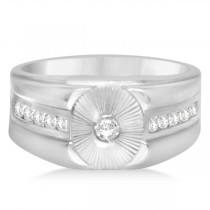 Diamond Accented Fashion Ring in 14k White Gold (0.45ct)