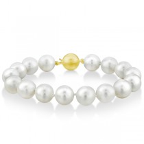 AAA Lustrous White South Sea Pearl Strand Bracelet 7 Inches 11-12mm|escape