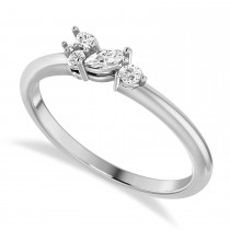 Diamond Stackable Ring/Wedding Band 14k White Gold (0.18ct)
