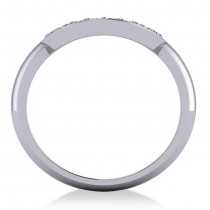 Diamond Horseshoe Fashion Ring 14k White Gold (0.27ct)