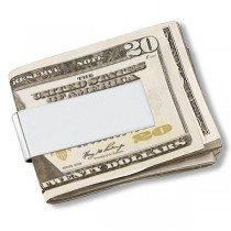 Classic Mens Wide Money Clip Sterling Silver