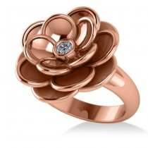 Diamond Flower Fashion Ring 14k Rose Gold (0.06ct)