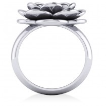 Diamond Flower Fashion Ring 14k White Gold (0.06ct)