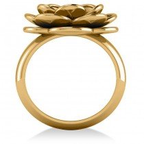 Diamond Flower Fashion Ring 14k Yellow Gold (0.06ct)|escape