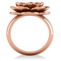 Ruby Flower Fashion Ring 14k Rose Gold (0.06ct)