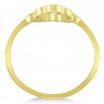 Hand of God Hamsa Ladies Fine Fashion Ring 14k Yellow Gold|escape