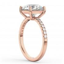 Round Diamond Engagement Ring 18K Rose Gold (2.21ct)