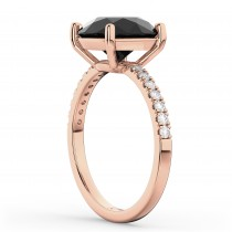 White & Black Diamond Engagement Ring 14K Rose Gold (2.21ct)|escape