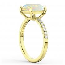 Opal & Diamond Engagement Ring 18K Yellow Gold 1.51ct