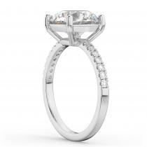 Round Diamond Engagement Ring Palladium (2.21ct)
