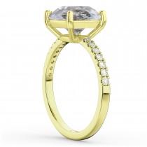 Salt & Pepper & White Diamond Engagement Ring 14K Yellow Gold (2.21ct)