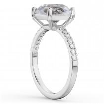 Salt & Pepper & White Diamond Engagement Ring Palladium (2.21ct)