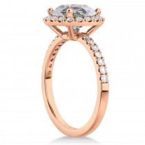 Halo Salt & Pepper & White Diamond Engagement Ring 14K Rose Gold (2.50ct)