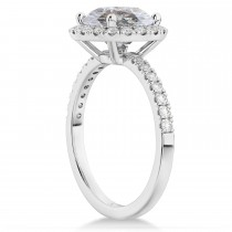 Halo Salt & Pepper & White Diamond Engagement Ring Platinum (2.50ct)