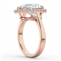 Pear Shaped Halo Diamond Engagement Ring 14K Rose Gold (4.69ct)