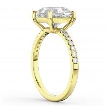Cushion Cut Diamond Engagement Ring 14k Yellow Gold (2.25ct)