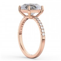Cushion Cut Salt & Pepper Diamond Engagement Ring 14k Rose Gold (2.25ct)