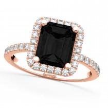 Black Diamond & Diamond Engagement 14k Rose Gold (3.32 ct)