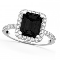 Black Diamond & Diamond Engagement 14k White Gold (3.32 ct)