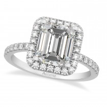 Emerald Cut Lab Grown Diamond Engagement 14k White Gold (3.32 ct)