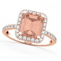 Morganite & Diamonds Engagement 14k Rose Gold (3.32 ct)