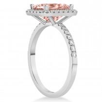 Morganite & Diamond Engagement 14k White Gold (3.32 ct)
