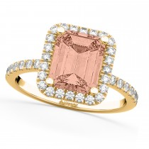 Morganite & Diamonds Engagement 14k Yellow Gold (3.32 ct)