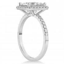 Moissanite & Diamond Engagement 14k White Gold (3.32 ct)