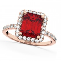 Ruby & Diamond Engagement Ring 18k Rose Gold (3.32ct)