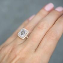 Salt & Pepper Diamond & Diamond Engagement 14k Rose Gold (3.32 ct)