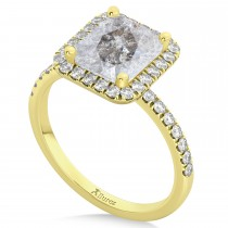 Salt & Pepper Diamond & Diamond Engagement 14k Yellow Gold (3.32 ct)