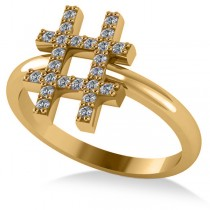 Hashtag Diamond Fashion Ring 14K Yellow Gold (0.24ct)