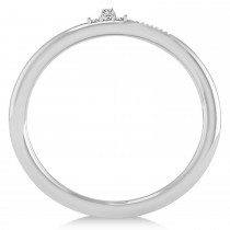 Diamond Curved Nail Ring 14k White Gold (0.06ct)