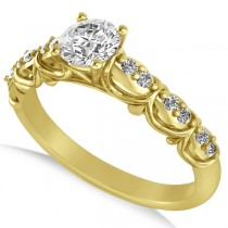 Diamond Accented Engagement Ring in 14k Yellow Gold (0.68ct)