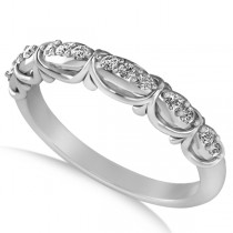 Diamond Semi Eternity Wedding Band in 14k White Gold (0.21ct)