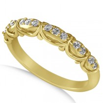 Diamond Semi Eternity Wedding Band in 14k Yellow Gold (0.21ct)