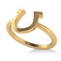 Centered Horseshoe Fashion Ring 14k Yellow Gold