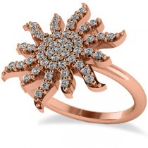 Diamond Sunburst Fashion Ring 14k Rose Gold (0.50ct)