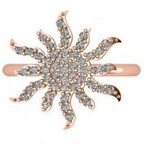 Diamond Sunburst Fashion Ring 14k Rose Gold (0.50ct)