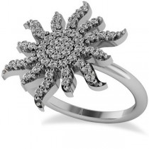 Diamond Sunburst Fashion Ring 14k White Gold (0.50ct)