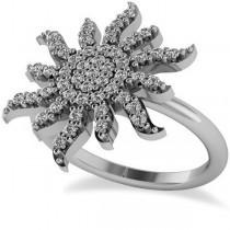 Diamond Sunburst Fashion Ring 14k White Gold (0.50ct)