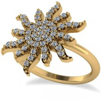 Diamond Sunburst Fashion Ring 14k Yellow Gold (0.50ct)