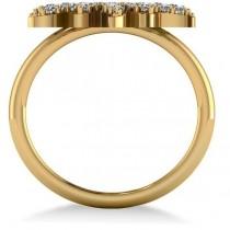 Diamond Sunburst Fashion Ring 14k Yellow Gold (0.50ct)