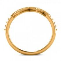 Round Diamond Heartbeat Pulse Vital Sign Ring 14k Yellow Gold (0.42ct)
