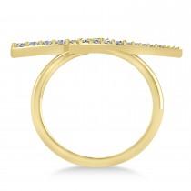 Lightning Bolt Bar Fashion Ring 14K Yellow Gold