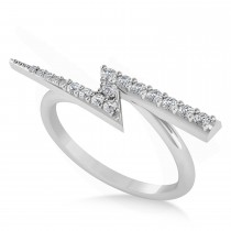 Diamond Lightening Bolt Fashion Ring 14K White Gold (0.25ct)