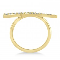 Diamond Lightning Bolt Fashion Ring 14K Yellow Gold (0.25ct)